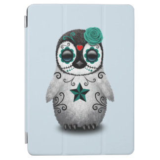 Blue Day of the Dead Baby Penguin iPad Air Cover