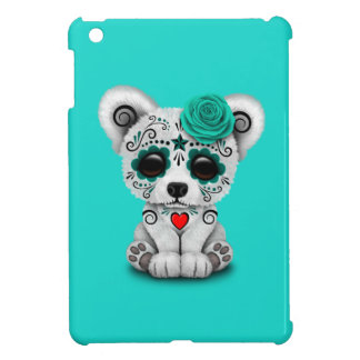 Blue Day of the Dead Baby Polar Bear iPad Mini Case