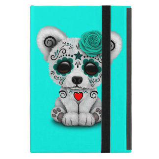 Blue Day of the Dead Baby Polar Bear iPad Mini Cover