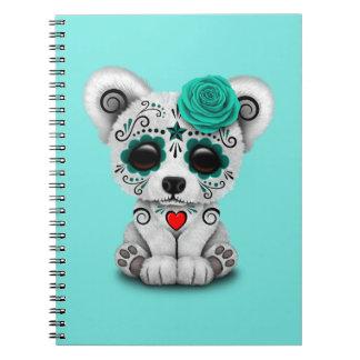 Blue Day of the Dead Baby Polar Bear Notebooks