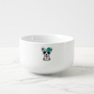Blue Day of the Dead Baby Polar Bear Soup Mug