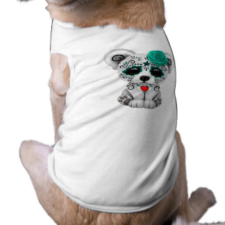 Blue Day of the Dead Baby Puppy Dog Shirt