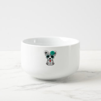 Blue Day of the Dead Baby Puppy Dog Soup Mug