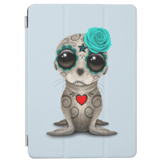 Blue Day of the Dead Baby Sea Lion iPad Air Cover