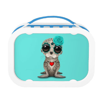 Blue Day of the Dead Baby Sea Lion Lunch Box
