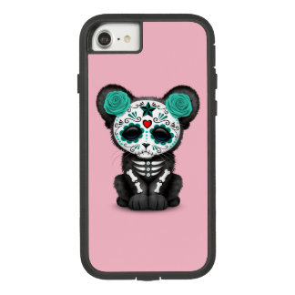 Blue Day of the Dead Black Panther Cub Case-Mate Tough Extreme iPhone 8/7 Case