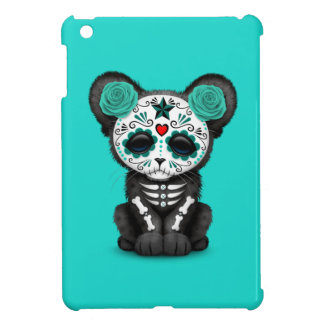 Blue Day of the Dead Black Panther Cub iPad Mini Case