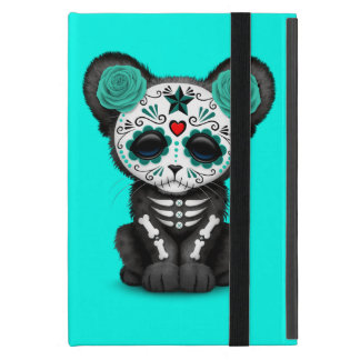 Blue Day of the Dead Black Panther Cub iPad Mini Cover