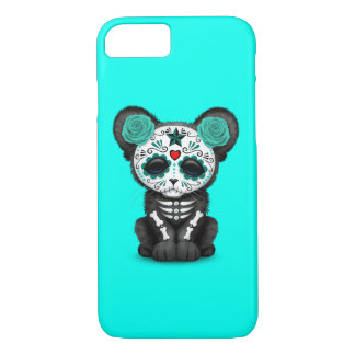 Blue Day of the Dead Black Panther Cub iPhone 8/7 Case