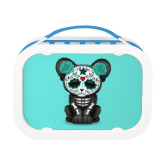 Blue Day of the Dead Black Panther Cub Lunch Box