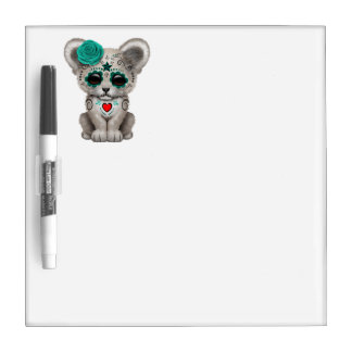 Blue Day of the Dead Lion Cub Dry Erase Board
