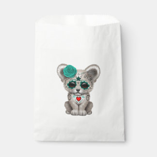 Blue Day of the Dead Lion Cub Favour Bag