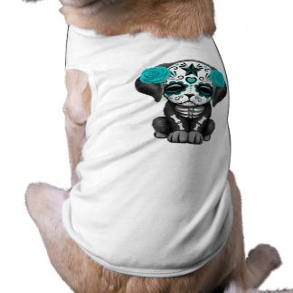 Blue Day of the Dead Puppy Dog Shirt
