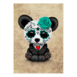 Blue Day of the Dead Sugar Skull Panda Aged Pack Of Chubby Business Cards
