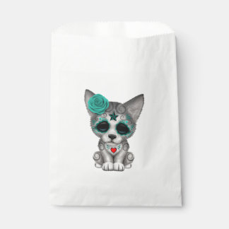 Blue Day of the Dead Wolf Cub Favour Bag