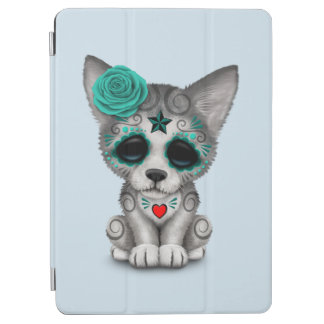 Blue Day of the Dead Wolf Cub iPad Air Cover