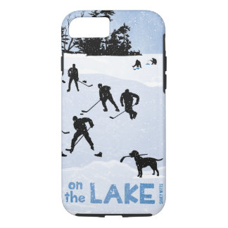 Blue Day on the Lake Pond Hockey iPhone 7 Case