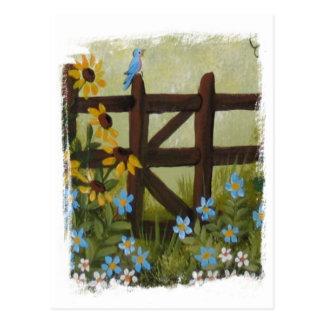 Blue Days Postcard
