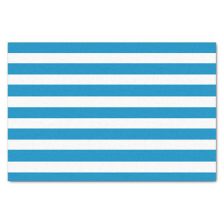 Blue Deckchair Stripes Tissue Paper