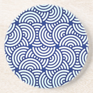 Blue Deco Japanese Curve Coaster
