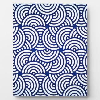 Blue Deco Japanese Curve Plaque