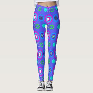 Blue Decorative geometric pattern Leggings