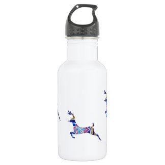 Blue Deer Custom Water Bottle (532 ml), White