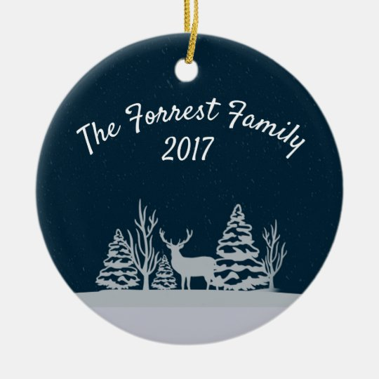 blue deer ornament