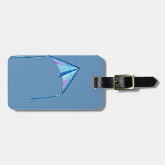 Blue Delta Kite on Blue Sky Luggage Tag
