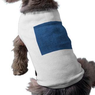 Blue Denim Fabric Textured Background Sleeveless Dog Shirt