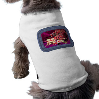 Blue Denim Frame Template Sleeveless Dog Shirt