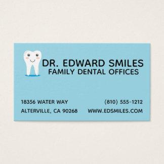 Blue Dentist Business Card - Dental Dentists Cards