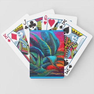 BLUE DESERT AGAVE RED DAWN DESIGN BICYCLE PLAYING CARDS