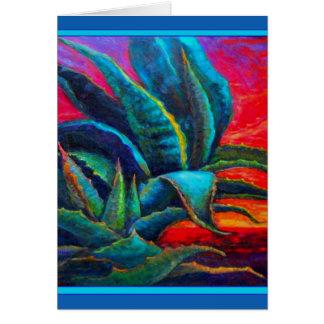 BLUE DESERT AGAVE RED DAWN DESIGN CARD