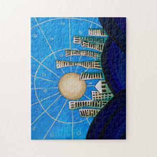 Blue Desert City Jigsaw Puzzle