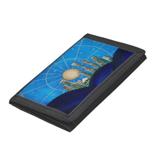 Blue Desert City Trifold Wallets