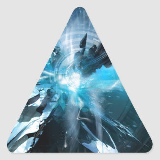 Blue Design Collection Triangle Sticker