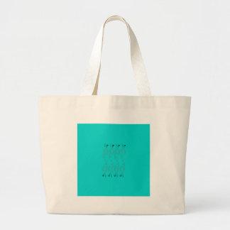 Blue design elements large tote bag