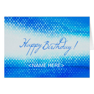 Blue Design for Birthday Greeting card