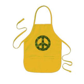 Blue Design of Peace Sign, Peace Symbol Kids Apron