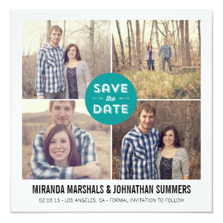 Blue Design Photo Save The Date Announcements