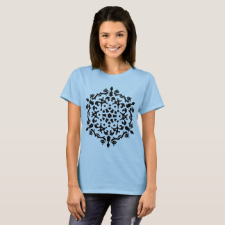 BLUE designers t-shirt with mandala