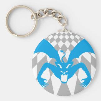 Blue Devil Basic Round Button Key Ring