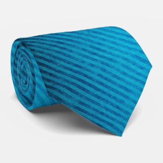 Blue Diagonal Grunge Stripes Tie