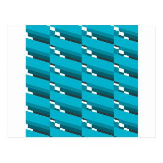 Blue Diagonal Line Postcard
