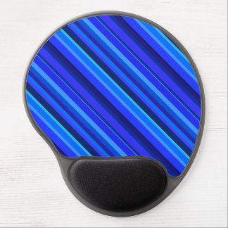 Blue diagonal stripes gel mouse pad