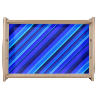 Blue diagonal stripes serving trays