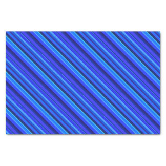 Blue diagonal stripes tissue paper