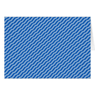 Blue Diagonal Zig Zag Pattern Card