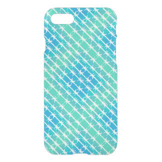 Blue Diamond Barbed Wire Barb Fencing Mint Green iPhone 7 Case